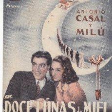 Cine: DOCE LUNAS DE MIEL DOBLE CON PUBLICIDAD. Lote 210831976