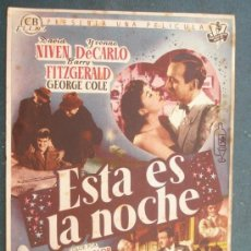 Cine: ESTA ES LA NOCHE CON PUBLICIDAD. Lote 210838090