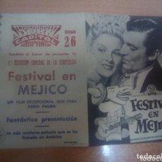 Cine: FESTIVAL EN MEJICO DOBLE CON PUBLICIDAD. Lote 210838431