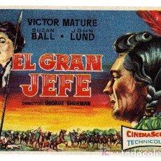 Cine: EL GRAN JEFE CON PUBLICIDAD. Lote 210840076