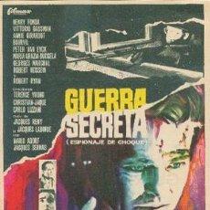 Cine: GUERRA SECRETA CON PUBLICIDAD. Lote 210840362