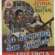 Cine: LA HERMANA SAN SULPICIO DOBLE CON PUBLICIDAD. Lote 210840820