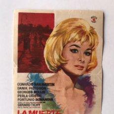 Cine: BARCELONA CINE ALARCÓN. FOLLETO DE MANO. LA MUERTE SILBA UN BLUES... (JUNIO DE 1965). Lote 210842807