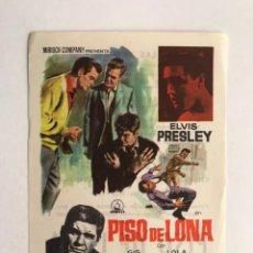 Cine: SANS, BARCELONA. CINE LAS ARENAS. FOLLETO DE MANO. ELVIS PRESLEY, EN PISO DE LONA (H.1960?). Lote 210843325