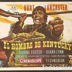 Cine: EL HOMBRE DE KENTUCKY CON PUBLICIDAD. Lote 210934007