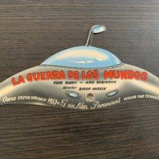 Flyers Publicitaires de films Anciens: PROGRAMA DE CINE FOLLETO DE MANO TROQUELADO LA GUERRA DE LOS MUNDOS. Lote 210934674
