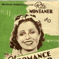 Flyers Publicitaires de films Anciens: EL ROMANCE DEL PALMAR. PROGRAMA DOBLE. TEATRO CALDERON DE ALCOY.. Lote 211258614