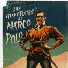Cine: LAS AVENTURAS DE MARCO POLO. PROGRAMA DOBLE TROQUELADO. CINE MUNICIPAL DE CÁDIZ.. Lote 211262567