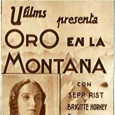 Cine: ORO EN LA MONTAÑA. PROGRAMA DOBLE. TEATRO CIRCO DE ALCOY. Lote 211270695