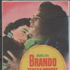 Cine: PROGRAMA DE MANO DE LA PELÍCULA HOMBRES DEL CINE MADRID DE REINOSA. Lote 211272021
