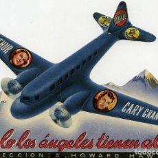 Cine: SOLO LOS ANGELES TIENEN ALAS. PROGRAMA TROQUELADO. TEATRO PRINCIPAL DE ALCOY. Lote 211272734