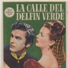 Cine: PROGRAMA DE CINE: LA CALLE DEL DELFIN VERDE. REVERSO IMPRESO PC-4703. Lote 211273094