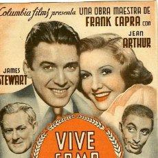 Foglietti di film di film antichi di cinema: VIVE COMO QUIERAS. PROGRAMA DOBLE. TEATRO CALDERON DE ALCOY. Lote 211274765