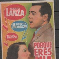 Cine: PROGRAMA DE MANO DE LA PELÍCULA PORQUE ERES MIA DEL CINE MADRID DE REINOSA. Lote 211275524