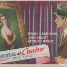 Cine: PROGRAMA DE MANO DE LA PELÍCULA LA MIJER DEL CUADRO EN EL TEATRO PRINCIPAL DE REINOSA DEL AÑO 1951. Lote 211324640