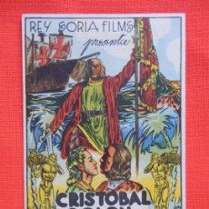 Cine: CRISTOBAL COLON, IMPECABLE SENCILLO, REY SORIA FILMS, C/P CINE BERGADAN 1946. Lote 211421860