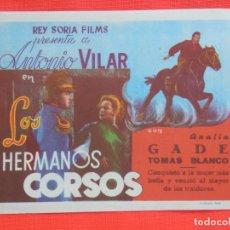Cine: LOS HERMANOS CORSOS, IMPECABLE SENCILLO, ANTONIO VILAR, C/P CINEMA VALLS 1991. Lote 211426880