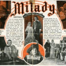 Cine: MILADY. PROGRAMA DOBLE. TEATRO CIRCO DE ALCOY. Lote 211432204