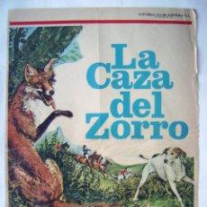 Cine: LA CAZA DEL ZORRO, DE JAMES HILL. TAMAÑO 35 X 50 CMS. PROGRAMA QUE UTILIZABAN PARA ESCAPARATE.S/I.. Lote 211438901