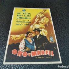 Cine: PROGRAMA DE MANO ORIG - ORO Y MARFIL - CINE DE LERIDA. Lote 211459081