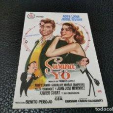 Cine: PROGRAMA DE MANO ORIG - SUSANA Y YO - CINE DE ZARAGOZA. Lote 211459822