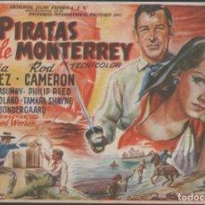 Cine: PROGRAMA DE MANO DE LA PELÍCULA PIRATAS DE MONTERREY EN EL TEATRO PRINCIPAL DE REINOSA DEL AÑO 1949. Lote 211460064