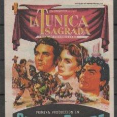 Cine: PROGRAMA DE MANO DE LA PELÍCULA LA TUNICA SAGRADA EN EL TEATRO PRINCIPAL DE REINOSA DEL AÑO 1955. Lote 211461485