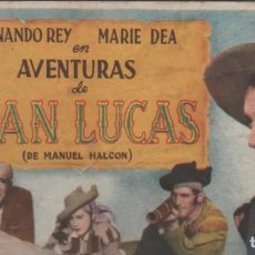 Cine: PROGRAMA DE MANO DE LA PELÍCULA JUAN LUCAS EN EL TEATRO PRINCIPAL DE REINOSA DEL AÑO 1950. Lote 211462519