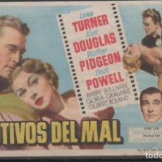 Cine: PROGRAMA DE MANO DE LA PELÍCULA CAUTIVOS DEL MAL DEL CINE MADRID DE REINOSA. Lote 211462992