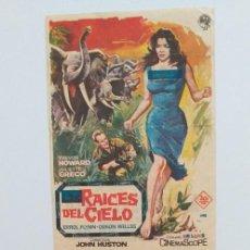 Cine: RAICES DEL CIELO JOHN HUSTON 2 PROGRAMA DE CINE CON PUBLICIDAD CON Y SIN CENSURA. Lote 211468555