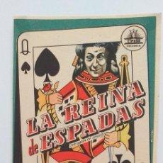 Cine: LA REINA DE ESPADAS ANTON WALBROOK PROGRAMA DE CINE SIN PUBLICIDAD. Lote 211470226