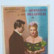 Cine: AVENTURA CHARITO GRANADOS PROGRAMA DE CINE SIN PUBLICIDAD. Lote 211552812