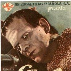Cine: LA SOMBRA DE FRANKENSTEIN. PROGRAMA DOBLE. TEATRO CALDERÓN, DE ALCOY. Lote 211563666