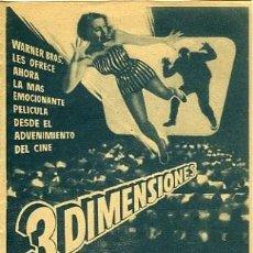 Cine: LOS CRIMENES DEL MUSEO DE CERA. PROGRAMA DOBLE.. Lote 211564365