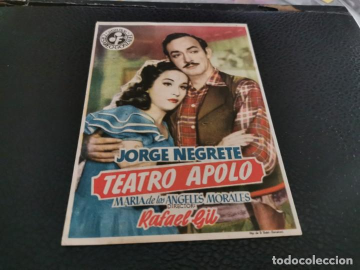 PROGRAMA DE MANO ORIG - TEATRO APOLO - CINE CRISTINA (Cine - Folletos de Mano - Clásico Español)
