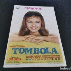 Cine: PROGRAMA DE MANO ORIG - TOMBOLA - CINE DE ALCOY. Lote 211580696