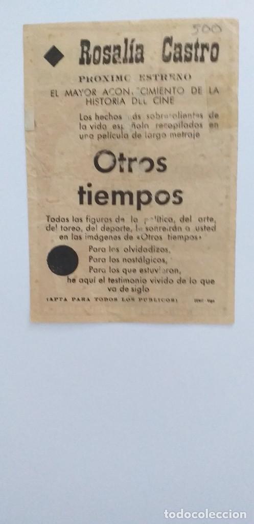 Cine: OTROS TIEMPOS PROGRAMA DE CINE CON PUBLICIDAD - Foto 2 - 211604310