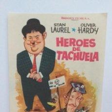 Cine: HEROES DE TACHUELA STAN LAUREL OLIVER HARDY PROGRAMA DE CINE SIN PUBLICIDAD. Lote 211608369