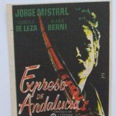 Cine: EXPRESO DE ANDALUCIA JORGE MISTRAL PROGRAMA DE CINE CON PUBLICIDAD. Lote 211609670