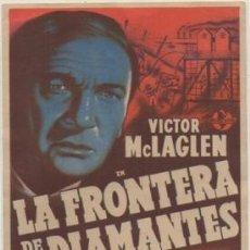 Cine: PROGRAMA DE CINE: LA FRONTERA DE LOS DIAMANTES. SIN PUBLICIDAD PC-4736. Lote 211660746