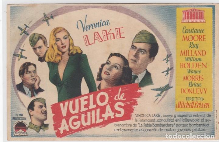 VUELO DE AGUILAS. FOLLETO DE MANO. SENCILLO CON PUBLICIDAD. CINE ECHEGARAY. MÁLAGA. (Cine - Folletos de Mano - Bélicas)