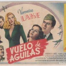 Cine: VUELO DE AGUILAS. FOLLETO DE MANO. SENCILLO CON PUBLICIDAD. CINE ECHEGARAY. MÁLAGA.. Lote 211680246