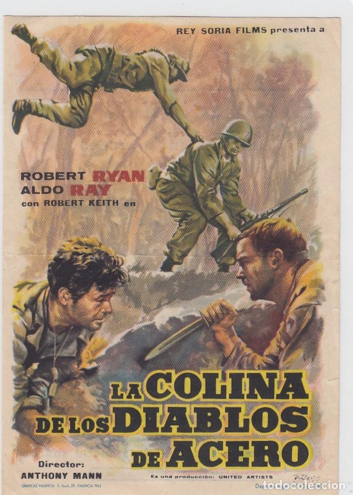 LA COLINA DE LOS DIABLOS . FOLLETO DE MANO. SENCILLO CON PUBLICIDAD. CINE MÁXIMO. (Cine - Folletos de Mano - Bélicas)