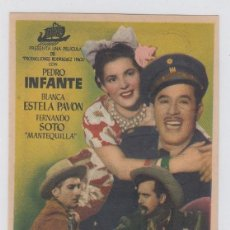 Cine: COYOTES EN LA HUASTECA. FOLLETO DE MANO. SENCILLO CON PUBLICIDAD. TEATRO ANDALUCIA. CÁDIZ.. Lote 211685919