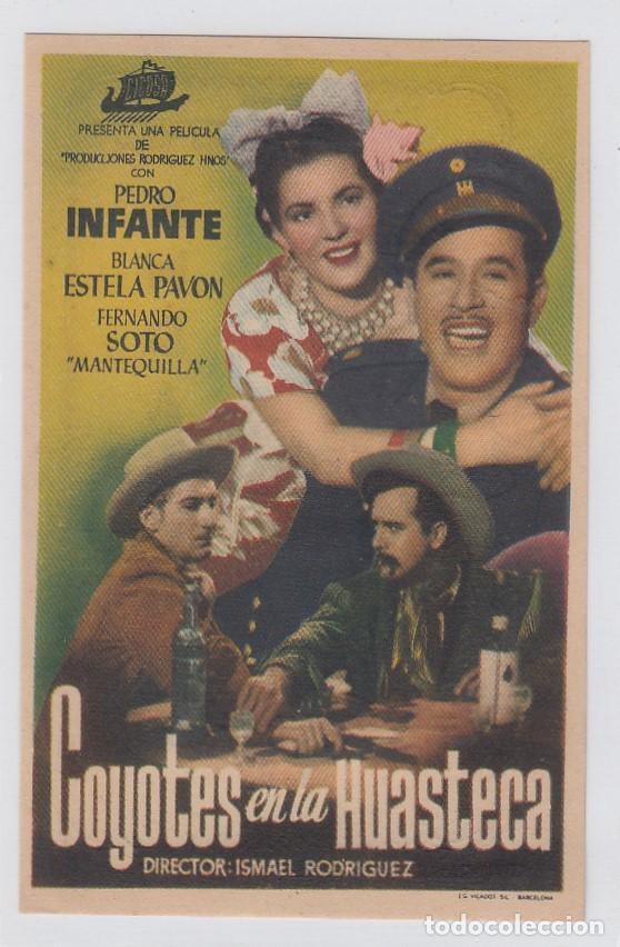 COYOTES EN LA HUASTECA. FOLLETO DE MANO. SENCILLO CON PUBLICIDAD. TEATRO ANDALUCIA. CÁDIZ. (Cine - Folletos de Mano - Westerns)