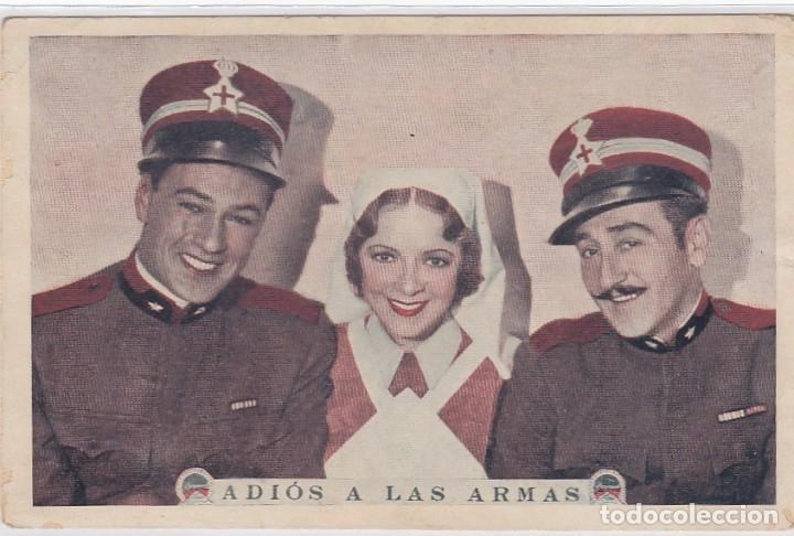 ADIOS A LAS ARMAS. FOLLETO DE MANO. TARJETA SIN PUBLICIDAD. (Cine - Folletos de Mano - Bélicas)
