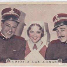Cine: ADIOS A LAS ARMAS. FOLLETO DE MANO. TARJETA SIN PUBLICIDAD.. Lote 211693234