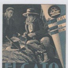 Cine: EL GATO MONTÉS. FOLLETO DE MANO. TARJETA CON PUBLICIDAD. CINE MUNICIPAL. CÁDIZ.. Lote 211694226