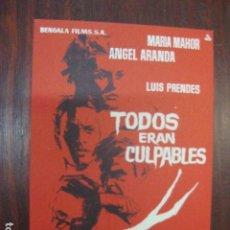 Cine: TODOS ERAN CULPABLES - FOLLETO MANO ORIGINAL - MARIA MAHOR ANGEL ARANDA LUIS PRENDES. Lote 211698305