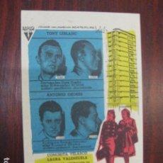 Cine: LOS TRAMPOSOS - FOLLETO MANO ORIGINAL TONY LEBLANC OZORES CONCHITA VELASCO LAURA VALENZUELA IMPRESO. Lote 211698746